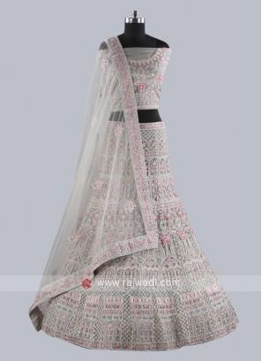 Marvelous Grey Net Fabric Lehenga