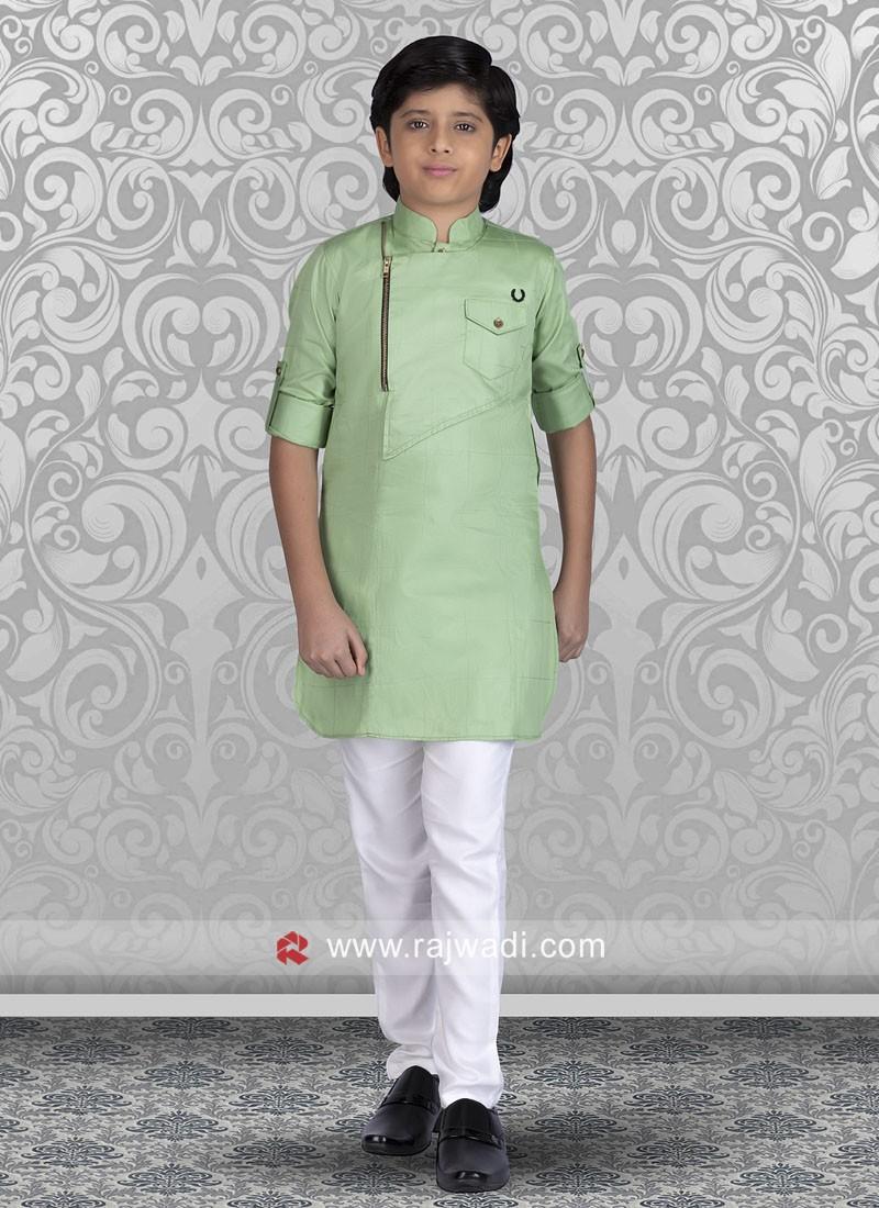 Marvelous Cotton Silk Fabric Kurta Pajama