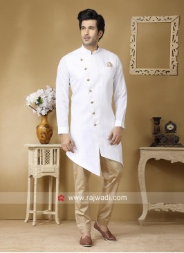 Marvelous Linen Fabric Pathani Set