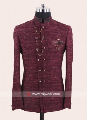 Marvelous Maroon Color Jodhpuri Suit