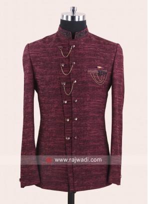 Marvelous Maroon Color Jodhpuri Suit
