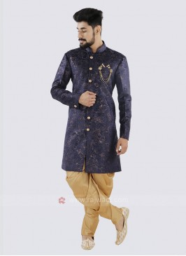 Marvelous Navy And Golden Patiala Suit