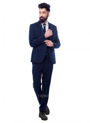 Marvelous Navy Blue Color Suit