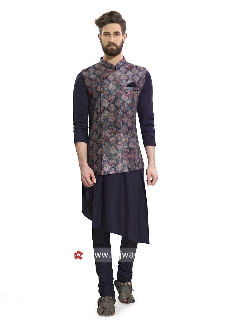 Marvelous Navy Color Nehru Jacket