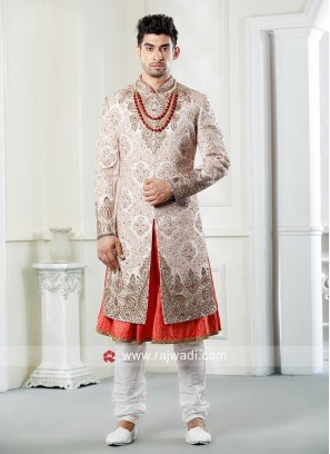 Marvelous Off White Color Sherwani