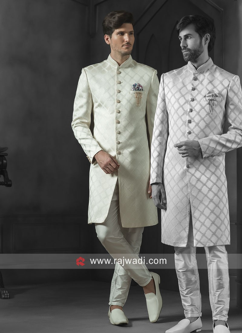 Marvelous Off White Indo Western