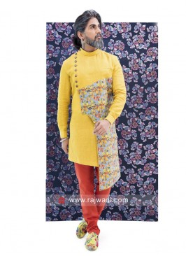 Marvelous Yellow Color Indo Western