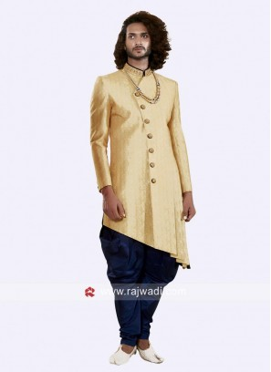 Marvelous Golden yellow Color Indo Western