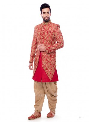 Marvelous Red Color Indo Western