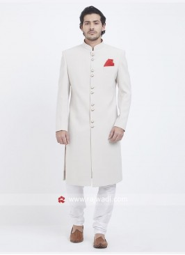 Marvelous White Nawabi Indo Wesstern
