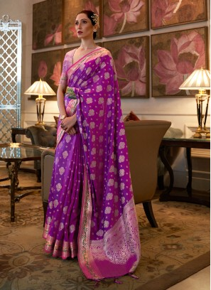 Masterly Purple Classic Saree