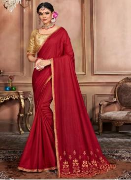 Masterly Silk Ceremonial Designer Traditional Saree
