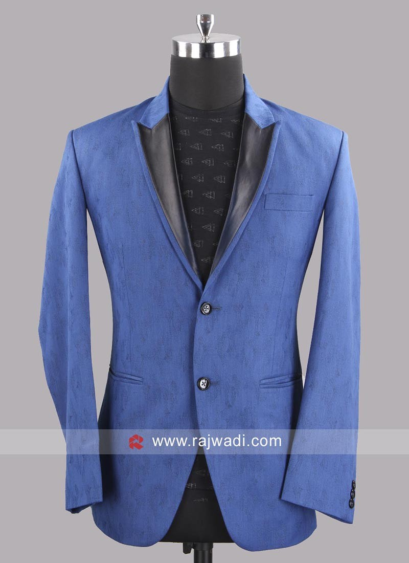 Medium Blue Blazer With Fancy Buttons