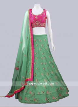Medium Sea Green Lehenga Choli