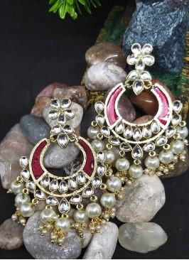 Meenakari Stonework Chandbali