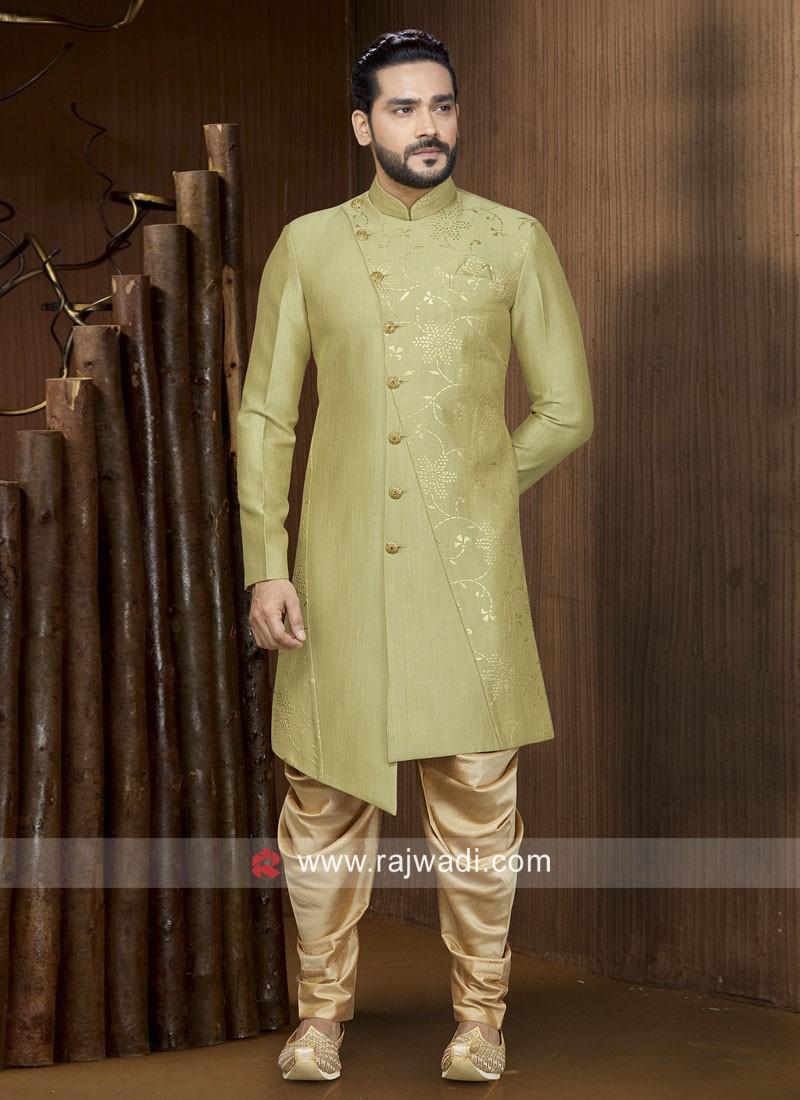 Mehndi Green Art Silk Indo Western