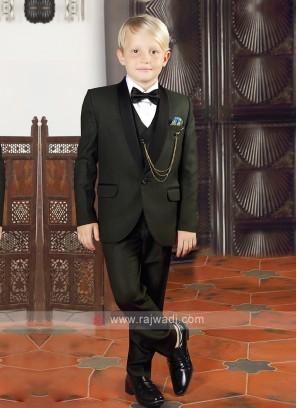Mehndi Green Boys Suit