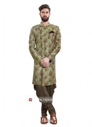 Mehndi Green Color Patiala Suit