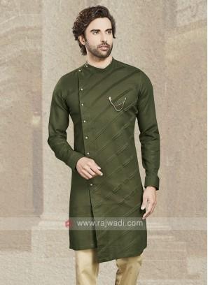 Mehndi Green Cotton Kurta