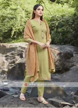 Mehndi green trouser suit
