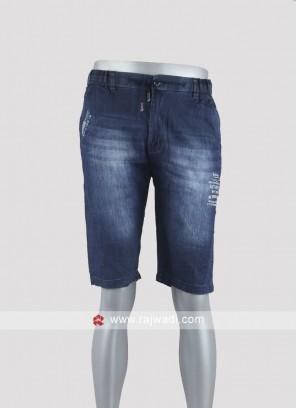 Men blue color denim shorts