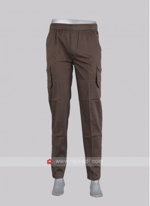 Men brown color cargo pants