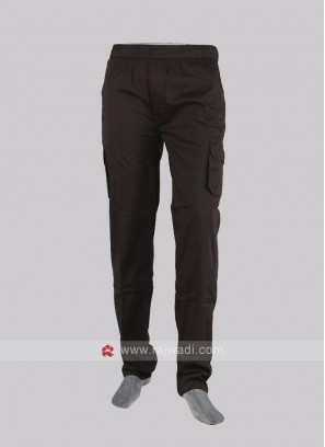 Men coffee color cargo pants