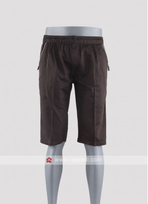 Men coffee color night shorts