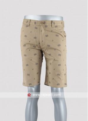 Men khaki color casual shorts