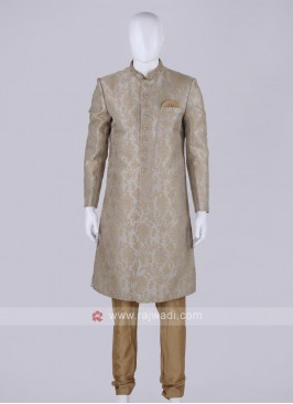 Men Grey Color Sherwani