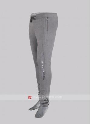 Men light grey track pants