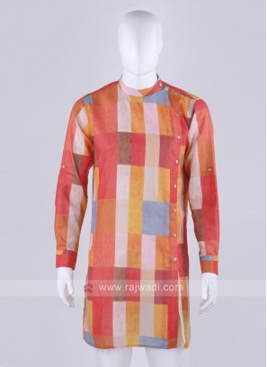 Men Multi-Color Printed Kurta