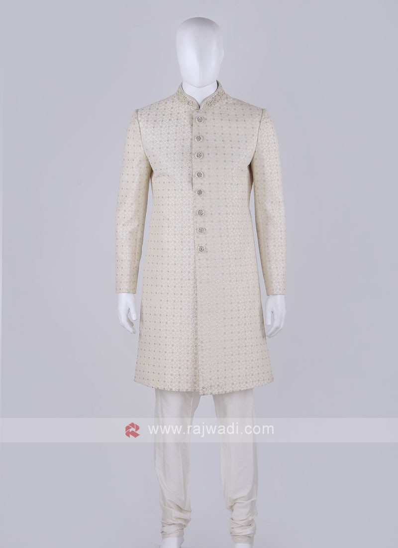 Off-white Coloured Sherwani