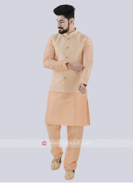Men's Peach Koti Set