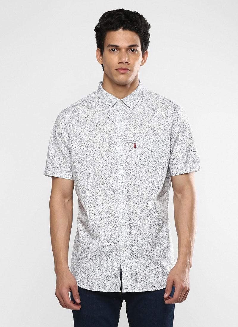 Levi's Men White Printed Shirt
