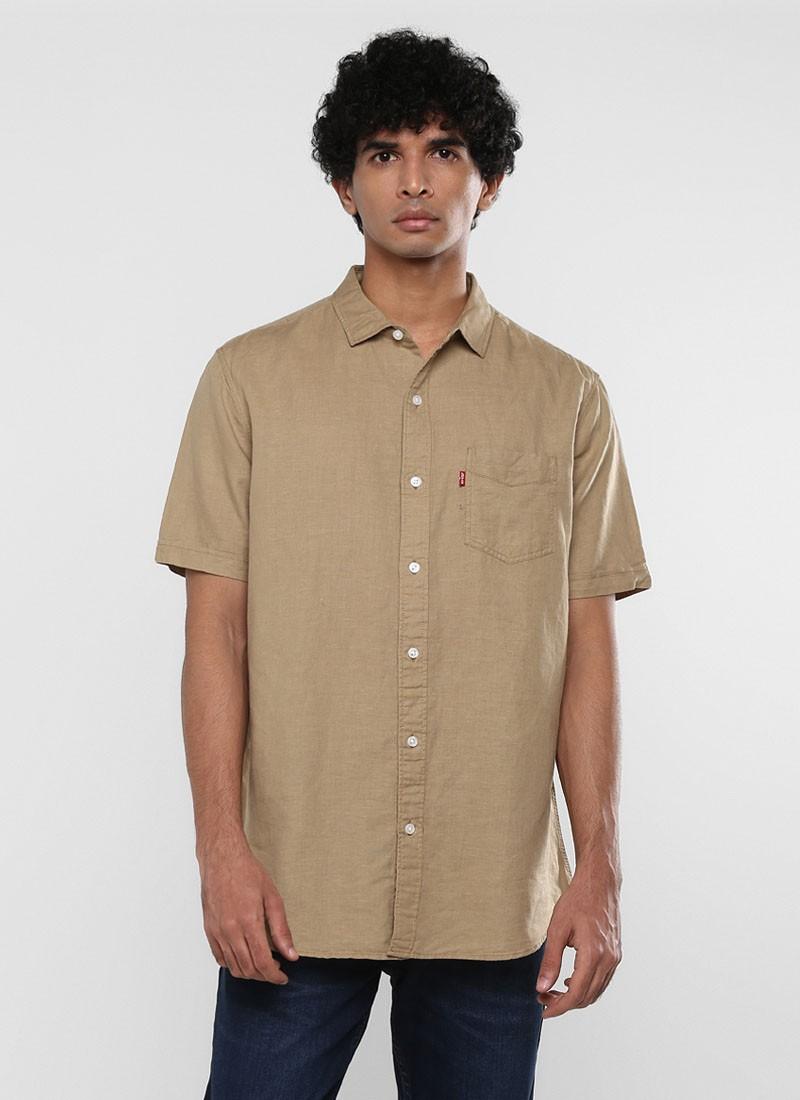 Levi's Mens Beige Color Slim Fit Shirt