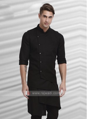 Mens Black Colour Koti Set