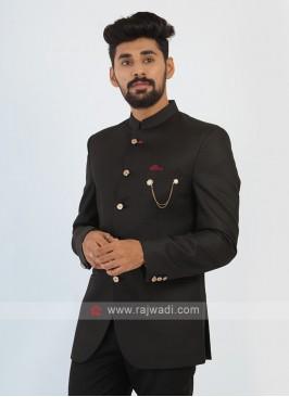 Mens Black Jodhopuri Suit