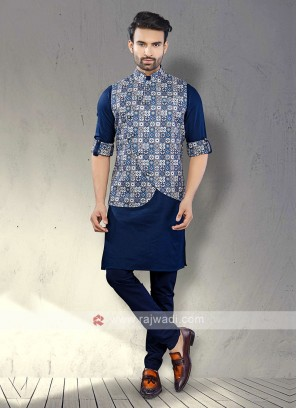 Mens Blue Koti Set