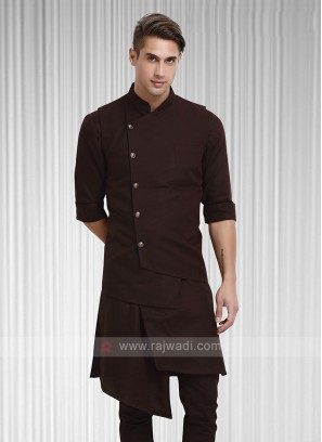 Mens Brown Colour Koti Set