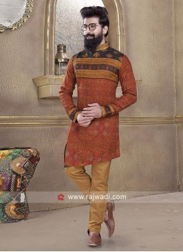 Mens Cotton Silk Pathani Suit