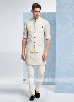 Mens Beige Colour Koti Set