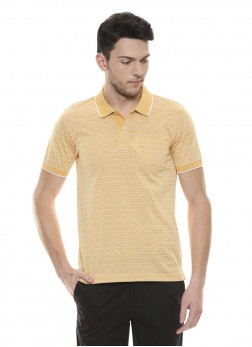 Mens Geometric Pattern Polo T-Shirt
