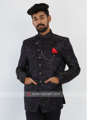 Mens Nay Blue Jodhopuri Suit