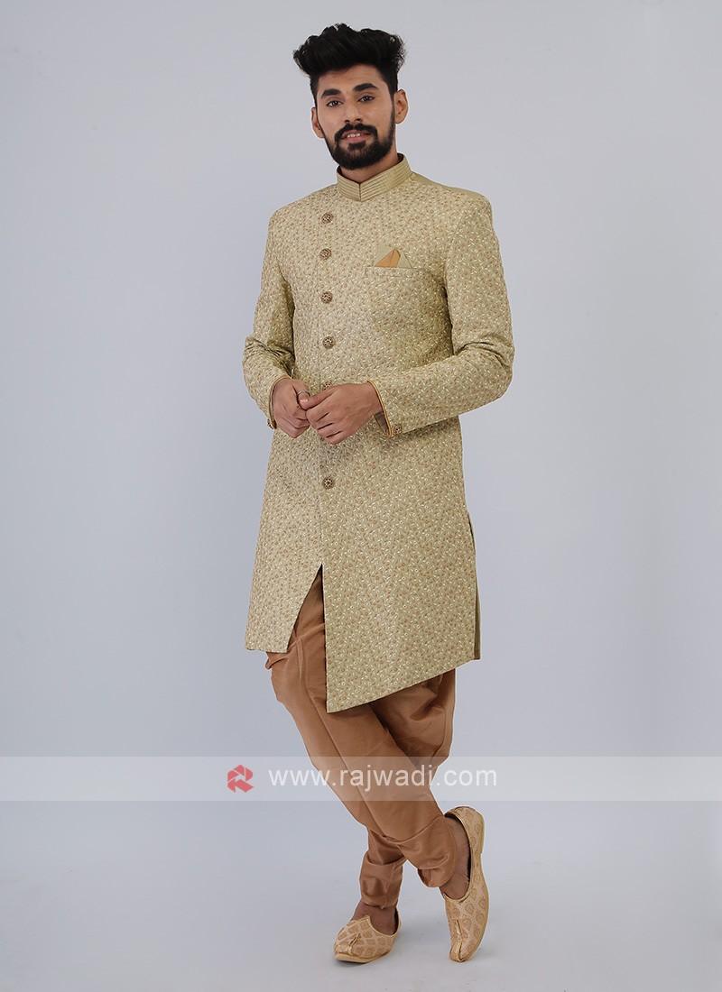 Mens Pista-Green Indo-western