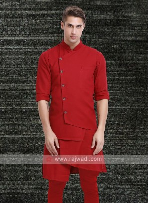 Mens Red Colour Koti Set