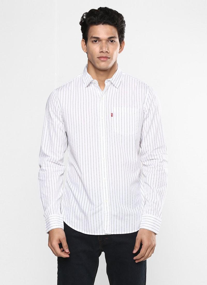 Levi's Mens White Casual Slim Fit Shirt