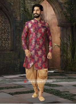 Miraculous Multi color Brocade Silk Patiala Suit