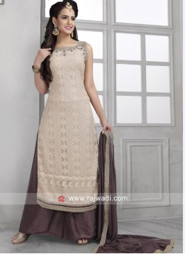 Mirror and Resham Work Palazzo Suit