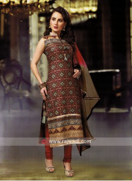 Mirror and Stone Work Churidar Suit